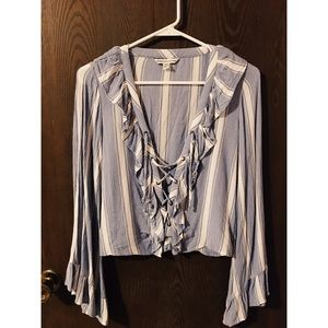 XS America Eagle Long Sleeve Blouse
